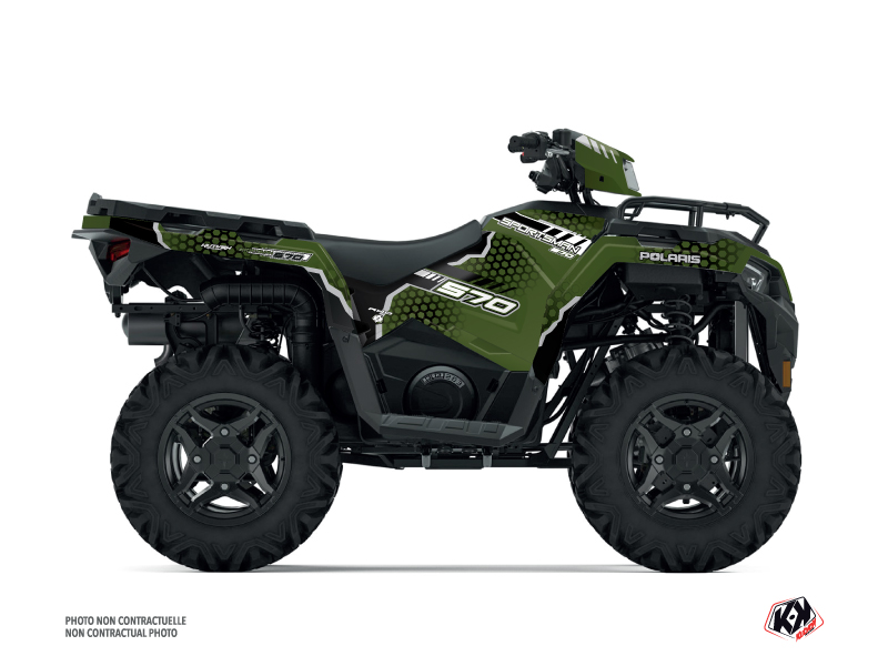 Polaris 570 Sportsman ATV Splinter Graphic Kit Green