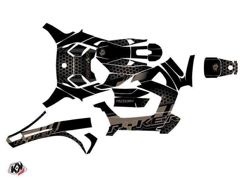 Can Am Ryker 600 900 Roadster Splinter Graphic Kit Black