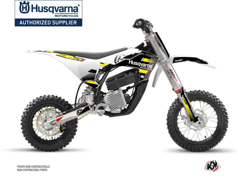 Husqvarna EE-5 Dirt Bike Split Graphic Kit Black Yellow