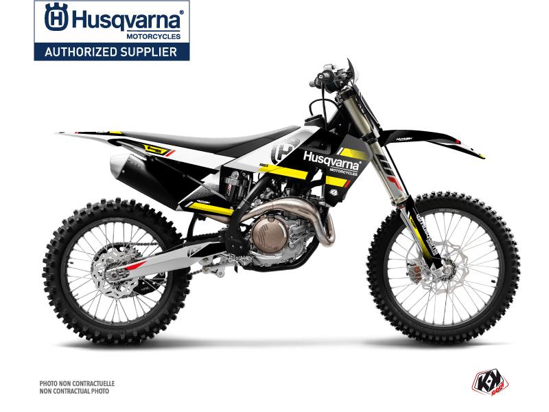 Husqvarna TC 125 Dirt Bike Split Graphic Kit Black Yellow