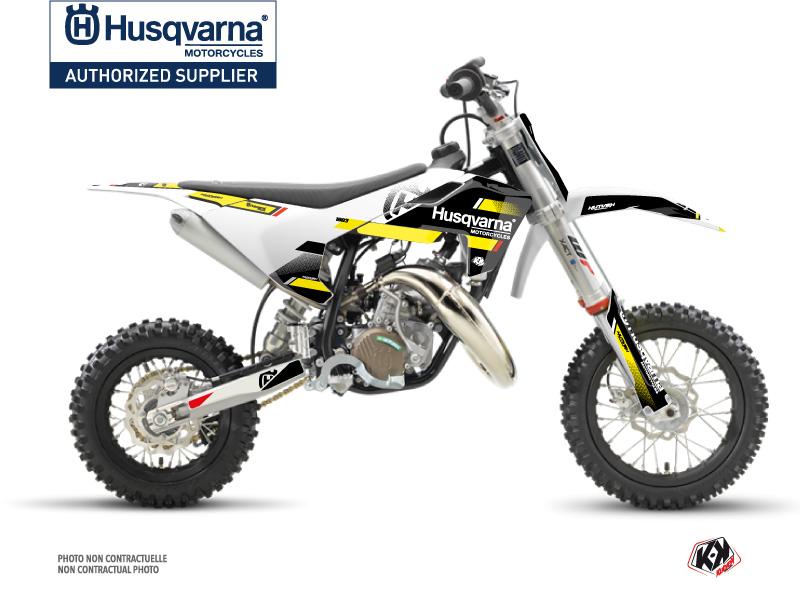 Husqvarna TC 50 Dirt Bike Split Graphic Kit Black Yellow