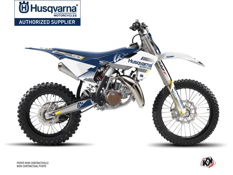 Husqvarna TC 85 Dirt Bike Split Graphic Kit White Blue