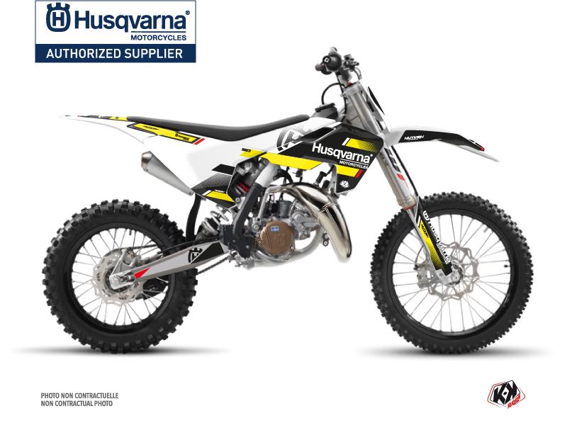 Husqvarna TC 85 Dirt Bike Split Graphic Kit Black Yellow