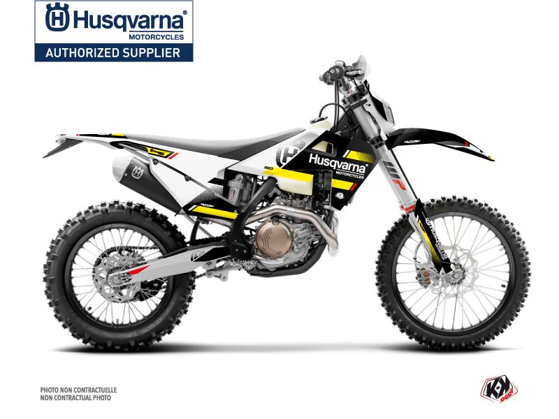 Husqvarna 125 TE Dirt Bike Split Graphic Kit Black Yellow