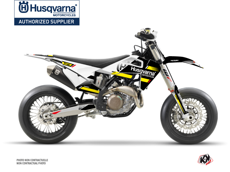 Husqvarna 450 FS Dirt Bike Split Graphic Kit Black Yellow