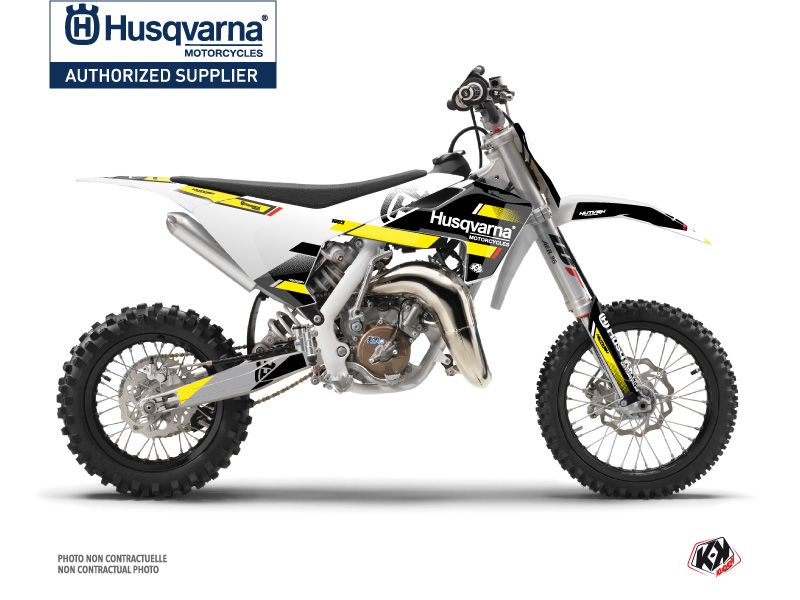 Husqvarna TC 65 Dirt Bike Split Graphic Kit Black Yellow