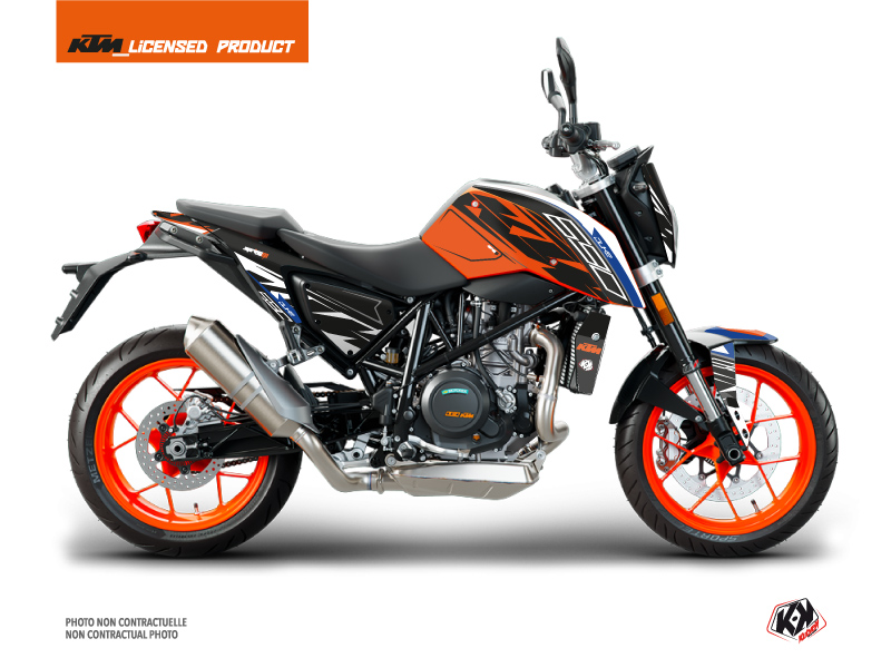 KTM Duke 690 Street Bike Spring Graphic Kit White Orange