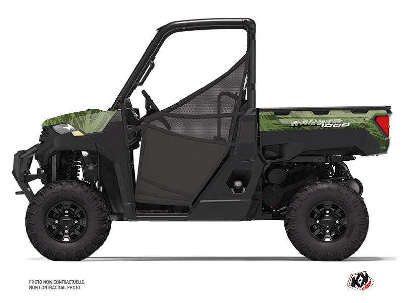 Polaris Ranger 1000 UTV Squad Graphic Kit Black Green