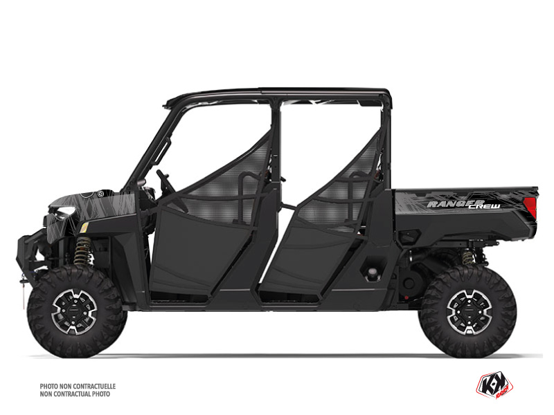 Polaris Ranger Crew UTV Squad Graphic Kit Black Grey