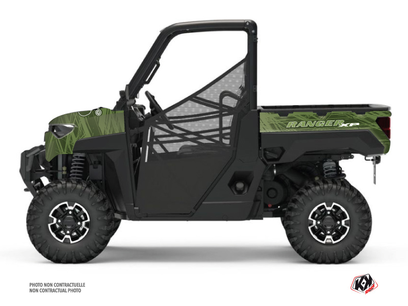 Polaris Ranger 1000 XP UTV Squad Graphic Kit Green