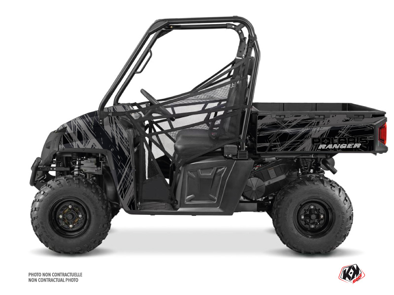 Polaris Ranger 570 FULL UTV Squad Graphic Kit Black Grey