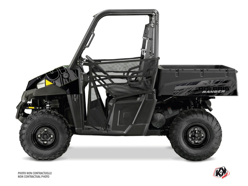 Polaris Ranger EV UTV Squad Graphic Kit Black Grey