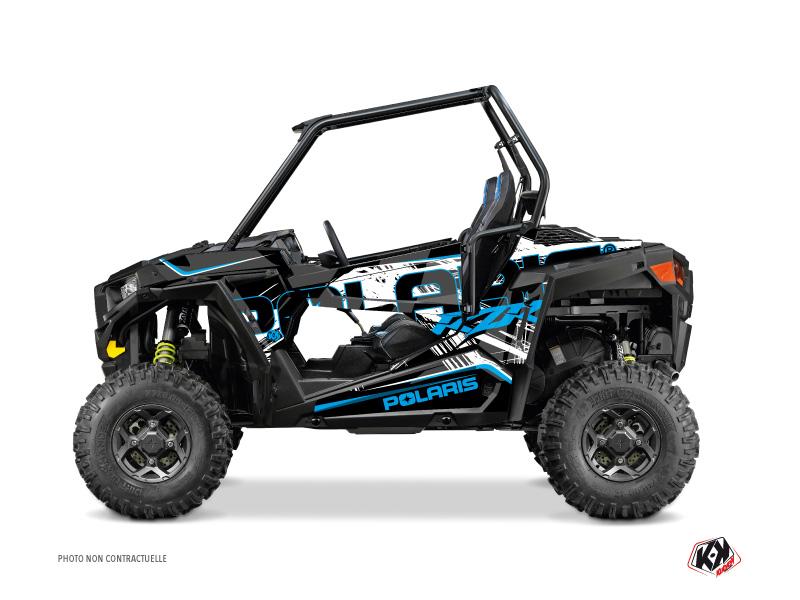 Polaris RZR 900 UTV Squad Graphic Kit Black Blue