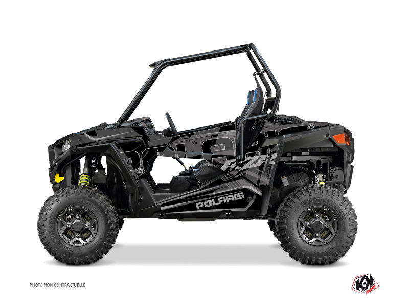 Polaris RZR 900 UTV Squad Graphic Kit Black Grey