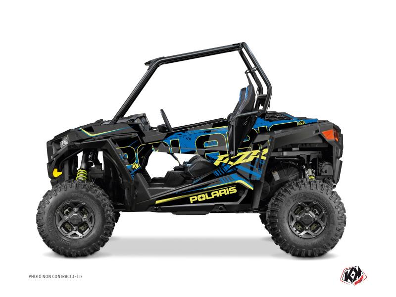 Polaris RZR 900 S UTV Squad Graphic Kit Blue Yellow