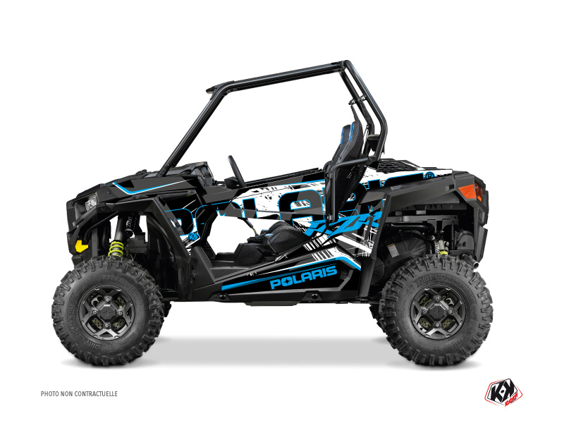 Polaris RZR 900 S UTV Squad Graphic Kit Black Blue