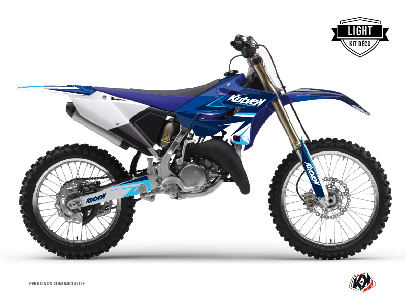 Yamaha 125 YZ Dirt Bike Stage Graphic Kit Blue LIGHT