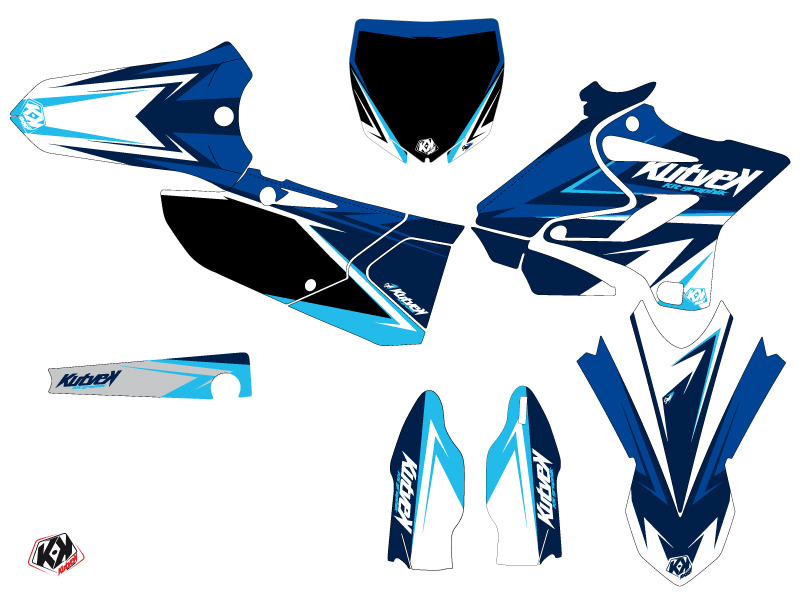 Yamaha 125 YZ Dirt Bike Stage Graphic Kit Blue