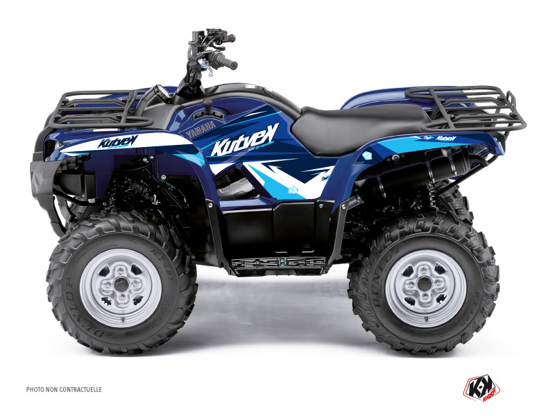 Yamaha 125 Grizzly ATV Stage Graphic Kit Blue