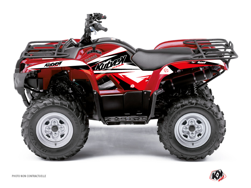Yamaha 125 Grizzly ATV Stage Graphic Kit Black Red