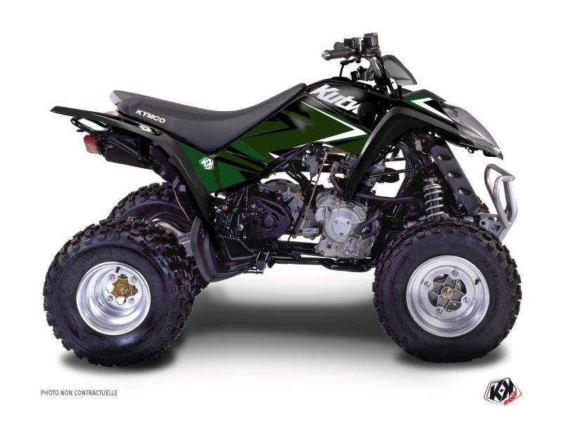 Kymco 250 MAXXER ATV Stage Graphic Kit Black Green