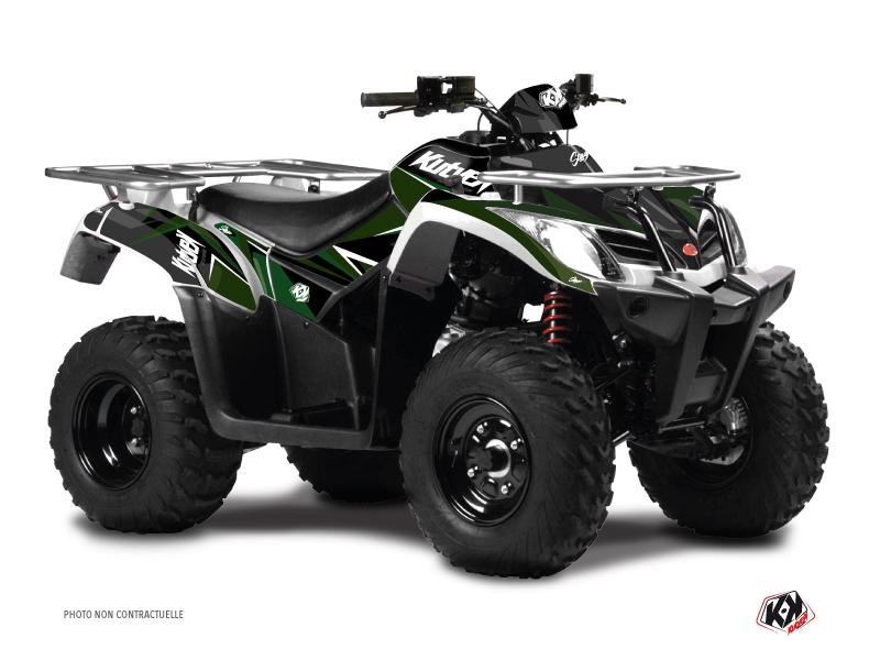 Kymco 300 MXU ATV Stage Graphic Kit Black Green