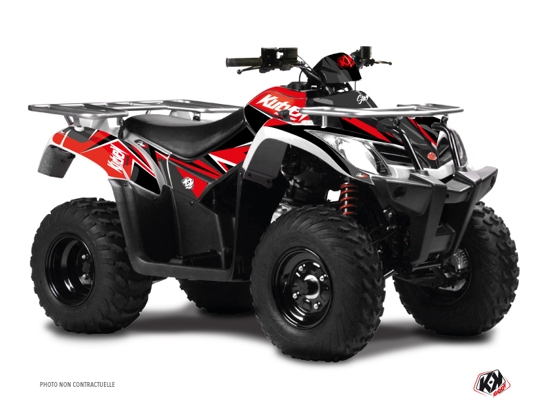 Kymco 300 MXU ATV Stage Graphic Kit Red Black