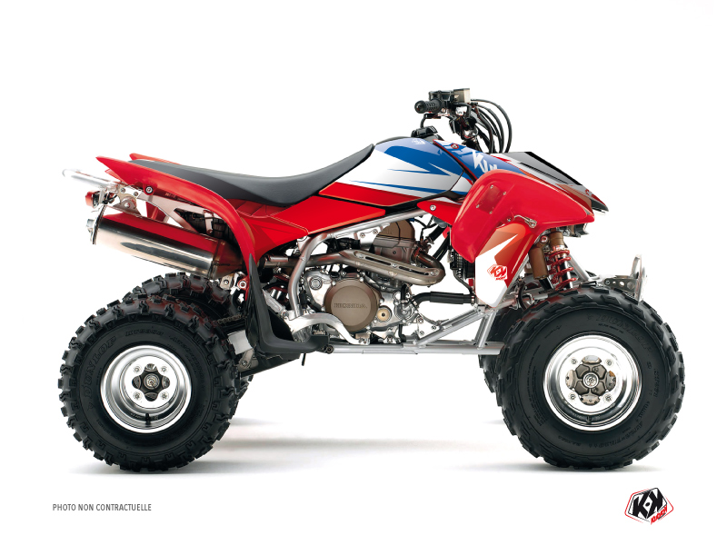 Honda 250 TRX R ATV Stage Graphic Kit Blue Red
