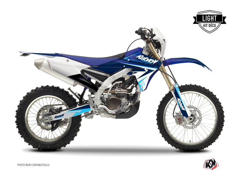 Yamaha 250 WRF Dirt Bike Stage Graphic Kit Blue LIGHT