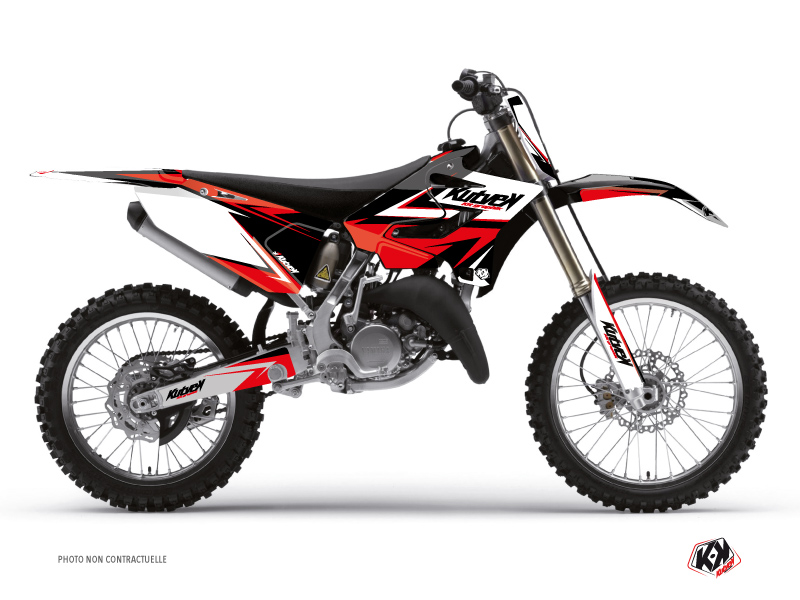Yamaha 250 YZ Dirt Bike Stage Graphic Kit Black Red