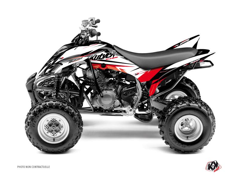 Yamaha 350 Raptor ATV Stage Graphic Kit Black Red