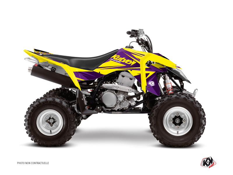 Suzuki 400 LTZ IE ATV Stage Graphic Kit Yellow Purple