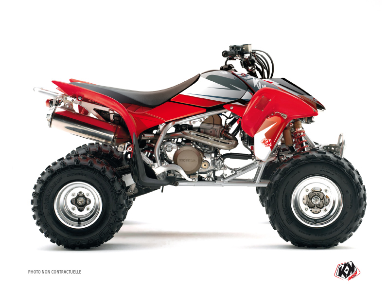 Honda 400 TRX ATV Stage Graphic Kit Black Red