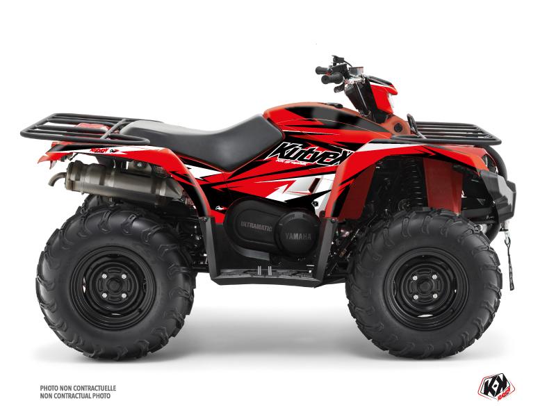 Yamaha 450 Kodiak ATV Stage Graphic Kit Black Red