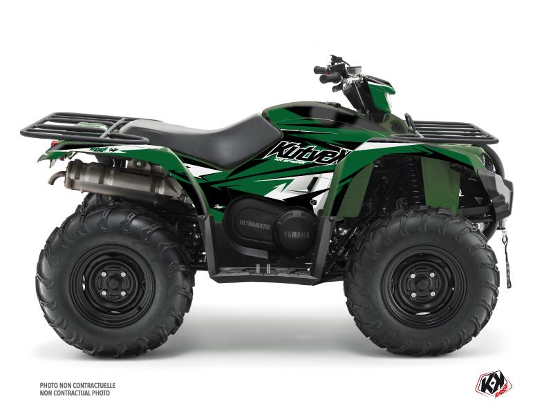 Yamaha 450 Kodiak ATV Stage Graphic Kit Black Green