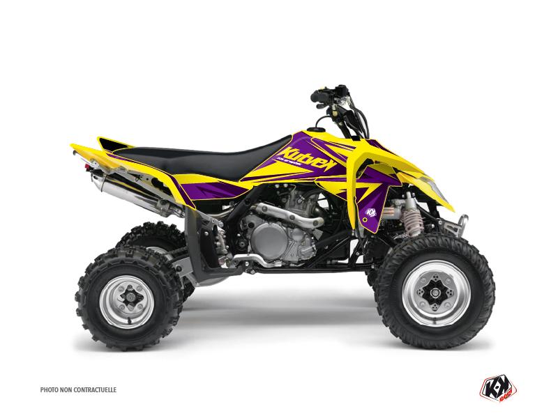 Suzuki 450 LTR ATV Stage Graphic Kit Yellow Purple