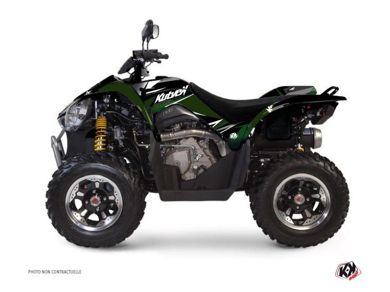 Kymco 450 MAXXER ATV Stage Graphic Kit Black Green