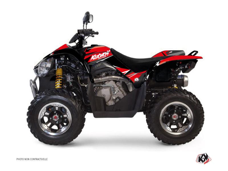 Kymco 450 MAXXER ATV Stage Graphic Kit Red Black