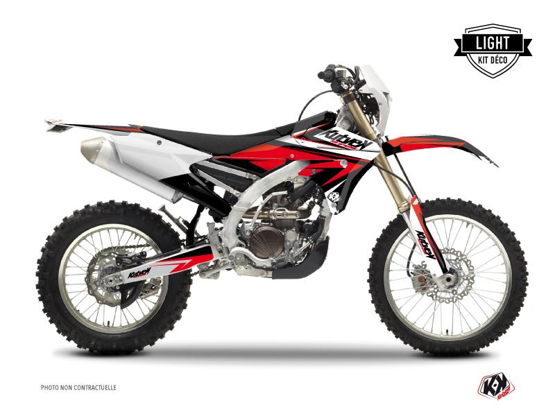 Yamaha 450 WRF Dirt Bike Stage Graphic Kit Black Red LIGHT
