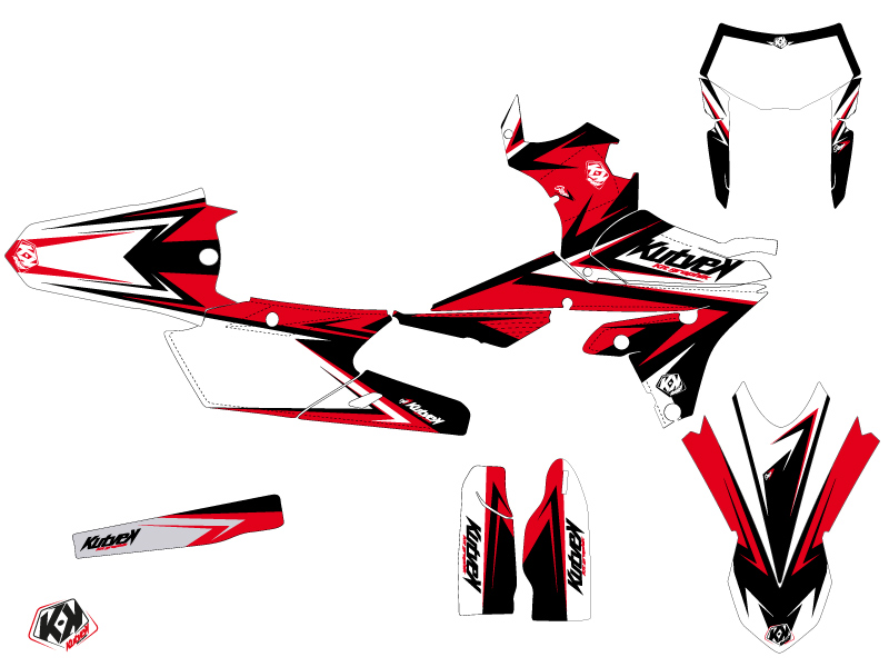 Kit Déco Moto Cross Stage Yamaha 450 WRF Noir Rouge