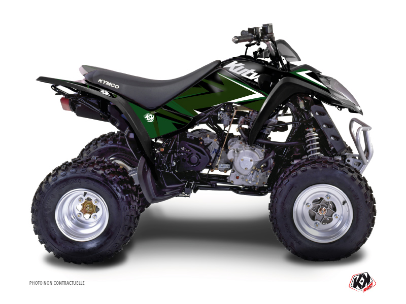 Kymco 50 MAXXER ATV Stage Graphic Kit Black Green