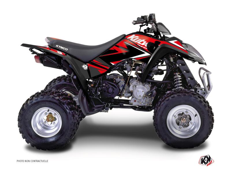 Kymco 50 MAXXER ATV Stage Graphic Kit Red Black
