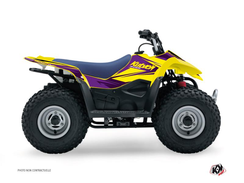Suzuki 50 LT ATV Stage Graphic Kit Yellow Purple