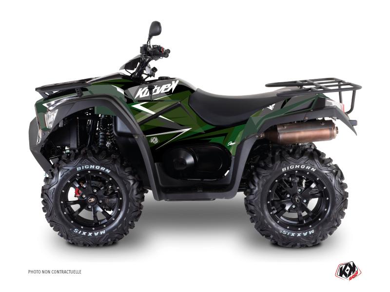 Kymco 550 MXU ATV Stage Graphic Kit Black Green
