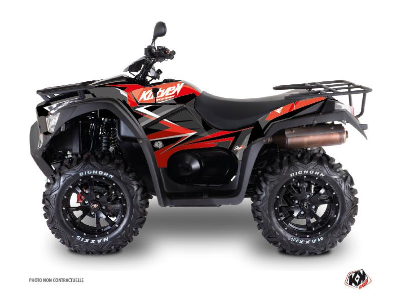 Kymco 550 MXU ATV Stage Graphic Kit Red Black