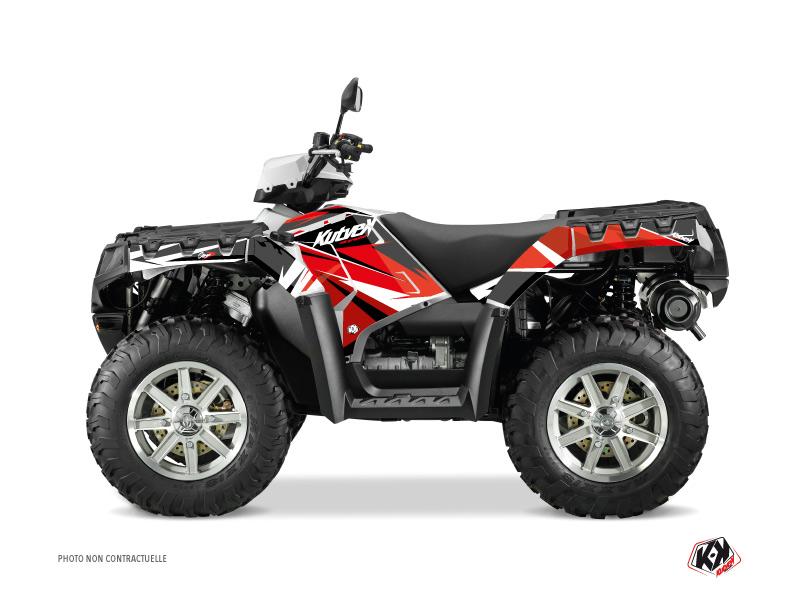 Polaris 550-850-1000 Sportsman Touring ATV Stage Graphic Kit Red