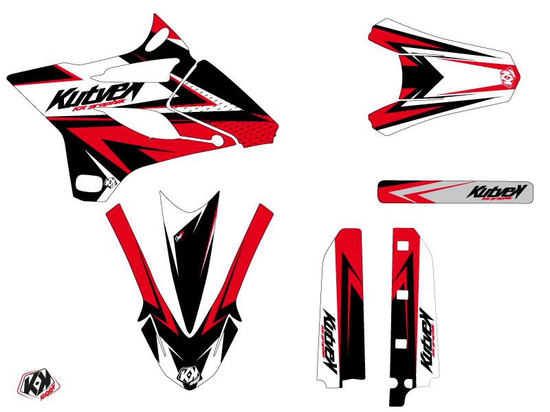 Kit Déco Moto Cross Stage Yamaha 85 YZ Noir Rouge LIGHT