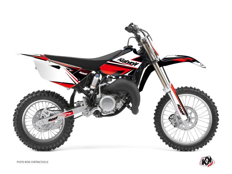 Yamaha 85 YZ Dirt Bike Stage Graphic Kit Black Red