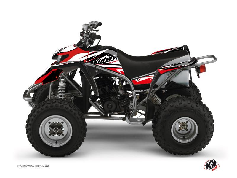 Yamaha Blaster ATV Stage Graphic Kit Black Red