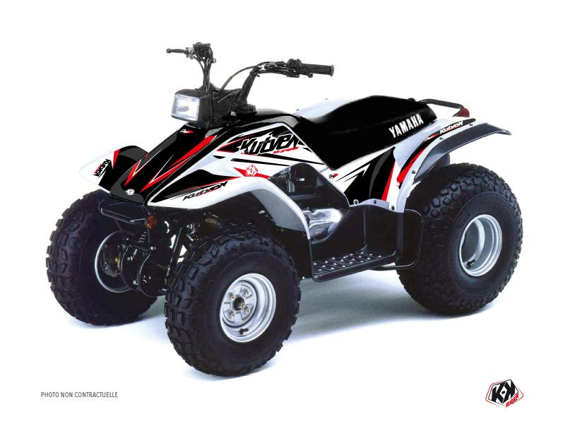 Yamaha Breeze ATV Stage Graphic Kit Black Red